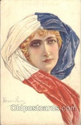 xrt093002 - Bourrillon (Italy) Artist Signed Postcard Postcards