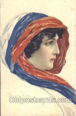 xrt093007 - Bourrillon (Italy) Artist Signed Postcard Postcards
