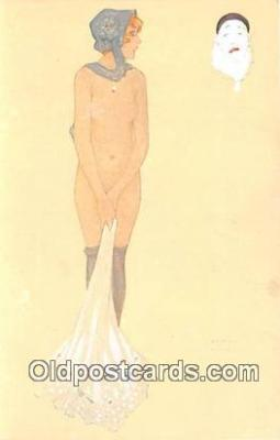 xrt096050 - # 4 Les Peches Capitaux L'Envie Artist Raphael Kirchner Postcard Postcard Post Card