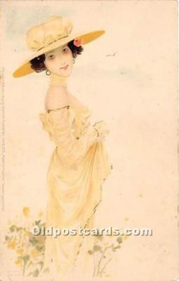 xrt096101 - Artist Raphael Kirchner Old Vintage Postcard