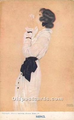 xrt096111 - Artist Raphael Kirchner Old Vintage Postcard