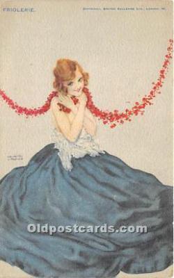 xrt096217 - Artist Raphael Kirchner Old Vintage Postcard