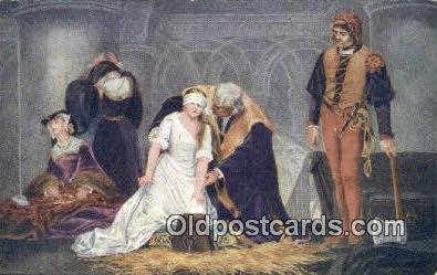 xrt100125 - Paul de la Roche - Execution of Lady Jane Gray Art Postcards Post Cards Old Vintage Antique
