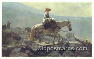 Winslow Homer - The Bridal Path Art Postcards Post Card