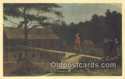Winslow Homer - The Morning Bell Art Postcards Post Card