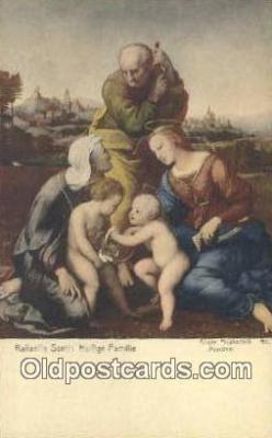 Raffaello Santi Heilige Familie Art Postcards Post Card