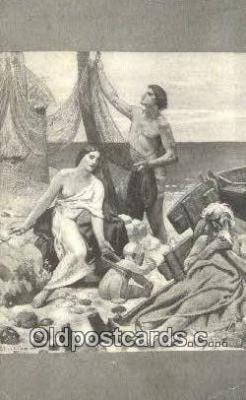 Puvis De Chavannes - The Fishermans Family Art Postcards Post Card