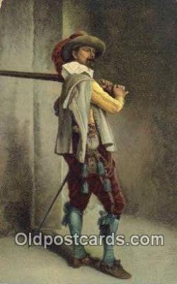 xrt100177 - J.L. Ernist Meissonier - A Musketeer Art Postcards Post Cards Old Vintage Antique