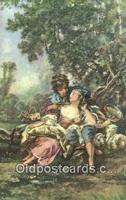 Francois Boucher - Pastorale Art Postcards Post Card