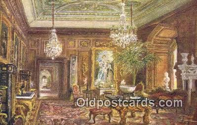 xrt100190 - Cedar Drawing Room, Warwick Castle Art Postcards Post Cards Old Vintage Antique