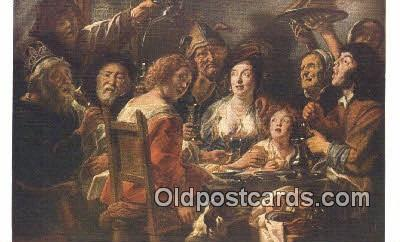 Jabob Jordaens- Twelth Day Art Postcards Post Card