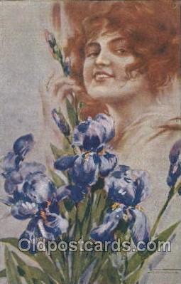 xrt124003 - Artist Signed M. Santino Postcard Postcards