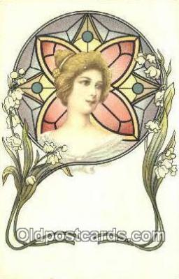 xrt150005 - Art Nouveau Postcard Post Card Old Vintage Antique