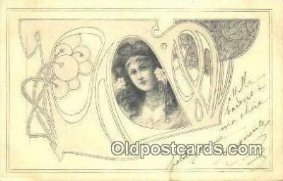 xrt150008 - Art Nouveau Postcard Post Card Old Vintage Antique