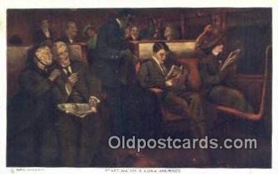 xrt171038 - Starting on a Long Journey Artist Dewey, Alfred James Postcards Post Cards Old Vintage Antique