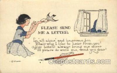 xrt272002 - Artist Signed Weaver, Postcard Postcards