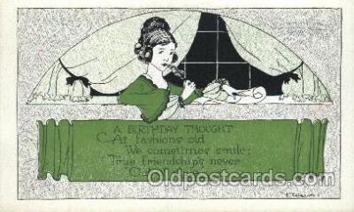 xrt272011 - Artist Signed Weaver, Postcard Postcards