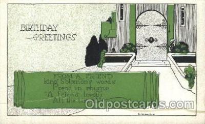 xrt272032 - Artist Signed Weaver, Postcard Postcards