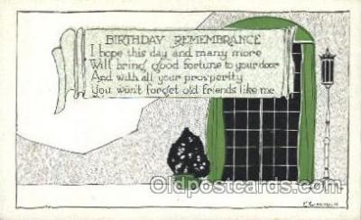xrt272039 - Artist Signed Weaver, Postcard Postcards