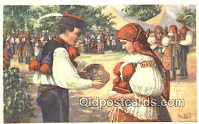 xrt283001 - Artist Konst Busek Postcard Post Card Old Vintage Antique