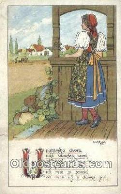 xrt283017 - Artist Konst Busek Postcard Post Card Old Vintage Antique Series # 1521
