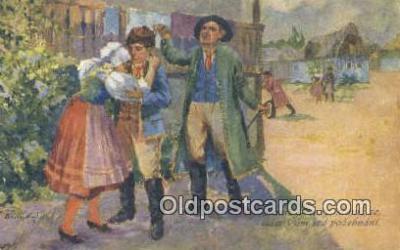 xrt285020 - Artist Rud Cerny Postcard Post Card Old Vintage Antique Series # 353-5