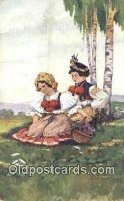 xrt288017 - Artist Jaroslav Cermak Postcard Post Card Old Vintage Antique Series # 1071