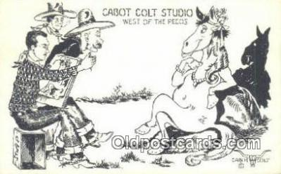 xrt291017 - Artist Cabot Colt Postcard Post Card Old Vintage Antique Series # W-14