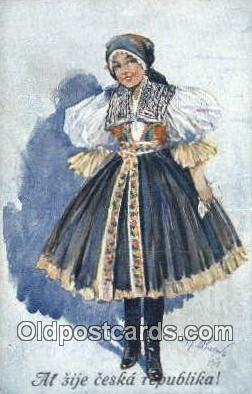 xrt292002 - Artist Oldrich Cihelka Postcard Post Card Old Vintage Antique Series # 0 7 5