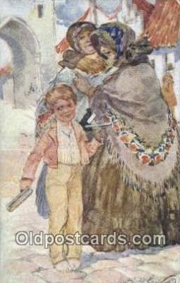 xrt292016 - Artist Oldrich Cihelka Postcard Post Card Old Vintage Antique Series # 0 1 2 2