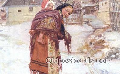 xrt299001 - Artist Douba, Joy Postcard Post Card Old Vintage Antique