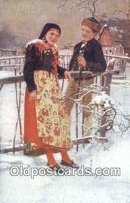 xrt299004 - Artist Douba, Joy Postcard Post Card Old Vintage Antique