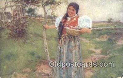 xrt299008 - Artist Douba, Joy Postcard Post Card Old Vintage Antique