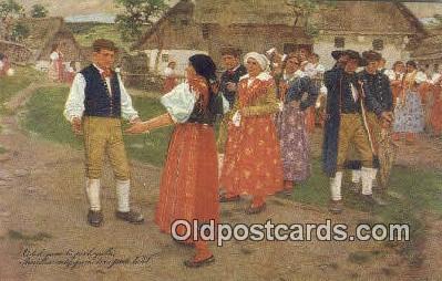 xrt299019 - Artist Douba, Joy Postcard Post Card Old Vintage Antique
