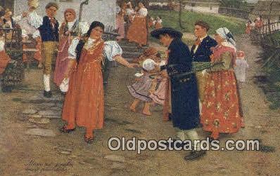 xrt299020 - Artist Douba, Joy Postcard Post Card Old Vintage Antique