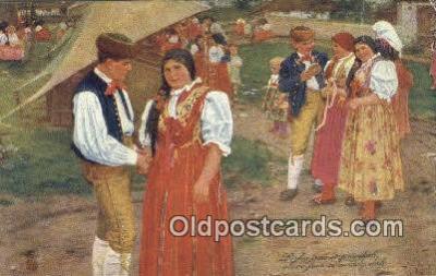 xrt299023 - Artist Douba, Joy Postcard Post Card Old Vintage Antique