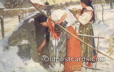 xrt299033 - Artist Douba, Joy Postcard Post Card Old Vintage Antique