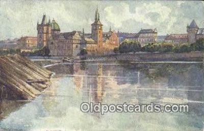 xrt301010 - Artist Engelmuller, F. Postcard, Praha, Prague, Czech Republic, Post Card, Old Vintage Antique