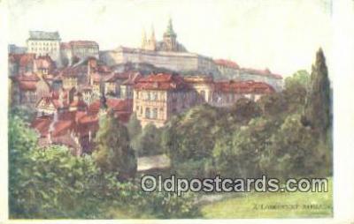 xrt301014 - Artist Engelmuller, F. Postcard, Praha, Prague, Czech Republic, Post Card, Old Vintage Antique
