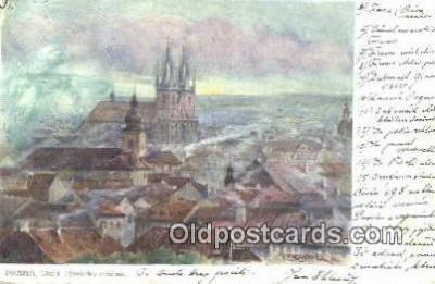 xrt301016 - Artist Engelmuller, F. Postcard, Praha, Prague, Czech Republic, Post Card, Old Vintage Antique