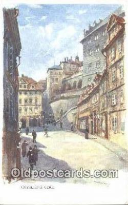 xrt301032 - Artist Engelmuller, F. Postcard, Praha, Prague, Czech Republic, Post Card, Old Vintage Antique