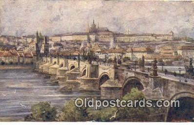 xrt301039 - Artist Engelmuller, F. Postcard, Praha, Prague, Czech Republic, Post Card, Old Vintage Antique