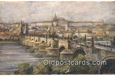 xrt301042 - Artist Engelmuller, F. Postcard, Praha, Prague, Czech Republic, Post Card, Old Vintage Antique