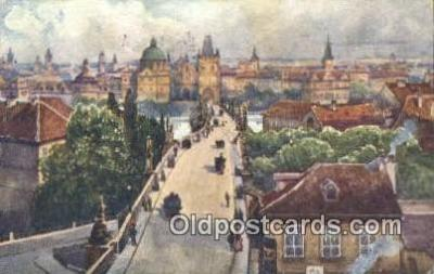 xrt301045 - Artist Engelmuller, F. Postcard, Praha, Prague, Czech Republic, Post Card, Old Vintage Antique