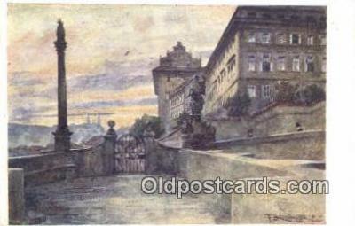 xrt301059 - Artist Engelmuller, F. Postcard, Praha, Prague, Czech Republic, Post Card, Old Vintage Antique