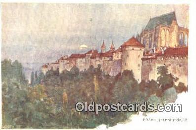 xrt301069 - Artist Engelmuller, F. Postcard, Praha, Prague, Czech Republic, Post Card, Old Vintage Antique