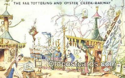 xrt302004 - Artist Emett, Rowland Postcard, Nellie-Far Totteringand Oyster Creek Railway Post Card, Old Vintage Antique