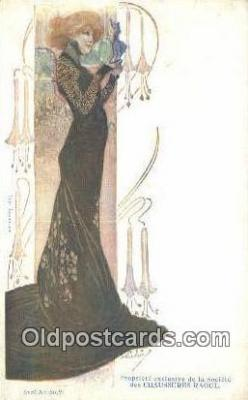 Sarah Bernhardt Artist Ludvic Postcard Post Card