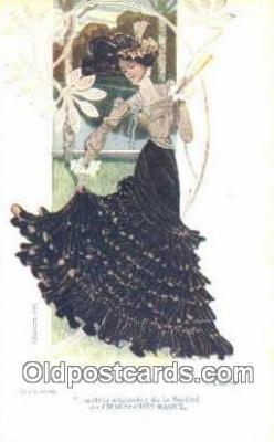 La Cavalierle Artist Ludvic Postcard Post Card