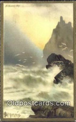 xrt316003 - Artist Morris Postcard Post Card, Old Vintage Antique